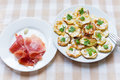 Fried zucchini and jamon a Royalty Free Stock Photos