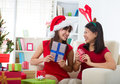 Friend lifestyle christmas photo Stock Photography