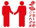 Friend Meeting Icon with Love Bonus