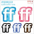 Friendfeed watercolor icon set.