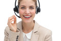 Friendly call center agent Royalty Free Stock Photo