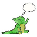 Friendly cartoon alligator Royalty Free Stock Images