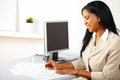 Friendly female executive on work Royalty Free Stock Photo