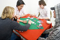 A friendly game of backroom poker Royalty Free Stock Photo