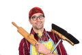 Friendly house husband with tools Royalty Free Stock Photography