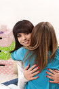 Friendly hug and true friendship Stock Photography