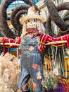 Friendly looking scarecrow the autumn display in the bellagio conservatory Stock Photos