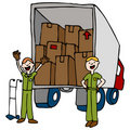 Friendly Moving Company Royalty Free Stock Photo