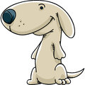 Friendly puppy a cartoon with a grin Royalty Free Stock Image