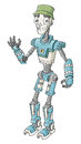 Friendly robot character vector illustration Royalty Free Stock Image