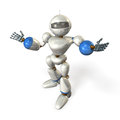 Friendly robot opens his arms kindly this is a computer generated image on white background Royalty Free Stock Image