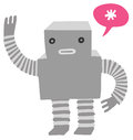 Friendly Robot Waving Royalty Free Stock Photo