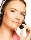 Friendly secretary/telephone operator Royalty Free Stock Photography