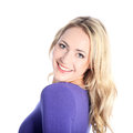Friendly Smiling Young Blonde Woman Royalty Free Stock Photography