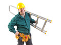 Friendly workman isolated Royalty Free Stock Photo