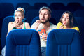 Friends in the cinema Royalty Free Stock Photo