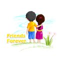 Friends forever vector illustration of for happy friendship day Royalty Free Stock Photos