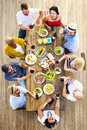 Friends Friendship Outdoor Dining People Concept Royalty Free Stock Photo