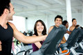Friends at a gym Royalty Free Stock Image