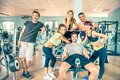 Friends in a gym Royalty Free Stock Photo
