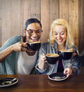 Friends Meeting Happiness Coffee Shop Concept Royalty Free Stock Photo