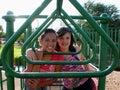Friends at Playground Stock Photo