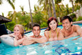 Friends In Pool Royalty Free Stock Images