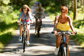 Friends riding their bikes in countryside sunny enjoy sport Stock Photos