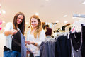 Friends Shopping For Clothes Royalty Free Stock Photo