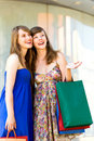 Friends shopping together Royalty Free Stock Photo