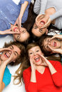 Friends shouting Royalty Free Stock Photo