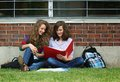 Friends study outside Royalty Free Stock Images