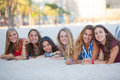 Friends on summer vacation Royalty Free Stock Image
