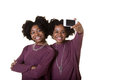 Friends or teens taking a photo Royalty Free Stock Photo