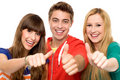 Friends with thumbs up Stock Photography