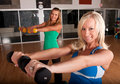 Friends working out together Royalty Free Stock Photos