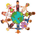 Friendship beyond frontier with people from all culture over the