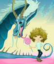 Friendship between boy and dragon