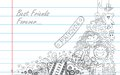Friendship day illustration of doodle in sketchy look Royalty Free Stock Photography
