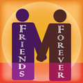 Friendship forever vector art Royalty Free Stock Photo