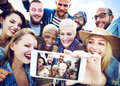 Friendship Selfie Happiness Beach Summer Concept Royalty Free Stock Photo
