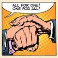 Friendship solidarity man hand