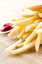 Fries close up and sauce Stock Photography