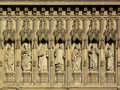 Frieze of martyrs Westminster Abbey Royalty Free Stock Photos