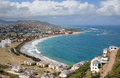Frigate bay st kitts a mountaintop view of the beautiful on the caribbean island of Royalty Free Stock Photography