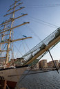 Frigate the chopin in harbor of goteborg sweden anchored Stock Photography