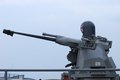 Frigate Stabilized gun Royalty Free Stock Photo