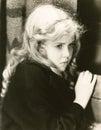 Frightened little girl Stock Images