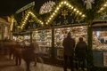 Frills stall at xmas market stuttgart germany dec lightened of wooden christmas shot on dec germany Stock Images