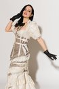 Frilly dress Stock Photo